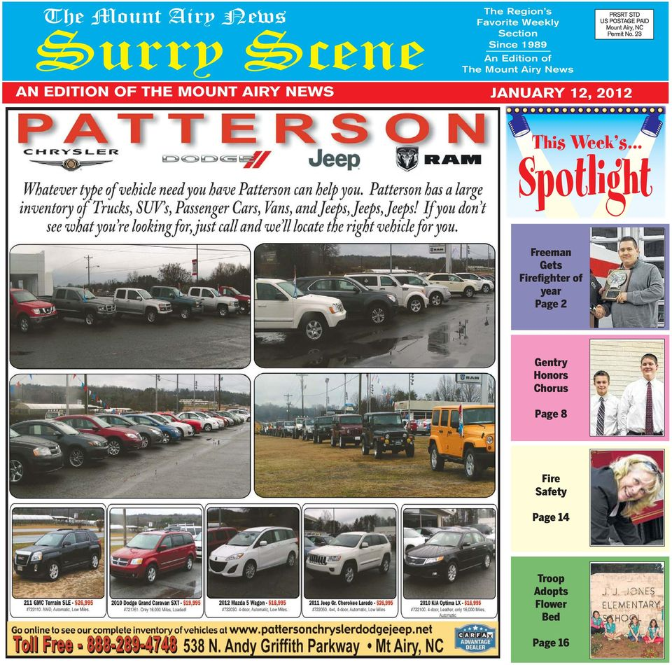 Spotlight surry scene this week s the mount airy news an 23 an edition of the mount airy news january 12 2012 this week s fandeluxe Images