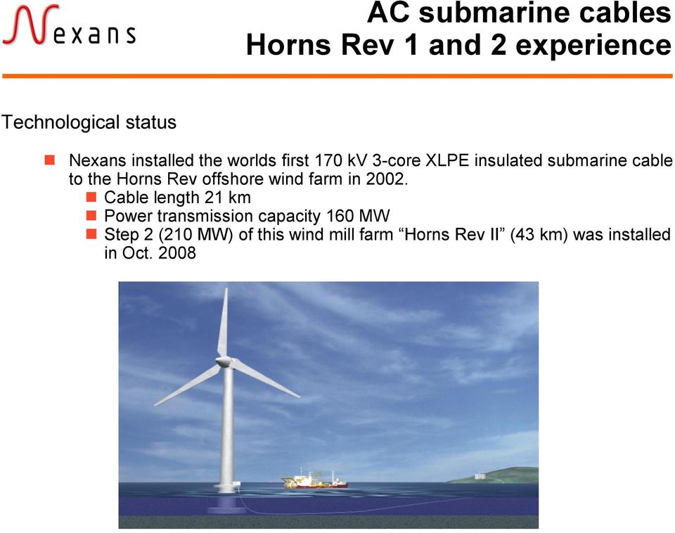 Horns Rev offshore wind farm in 2002.
