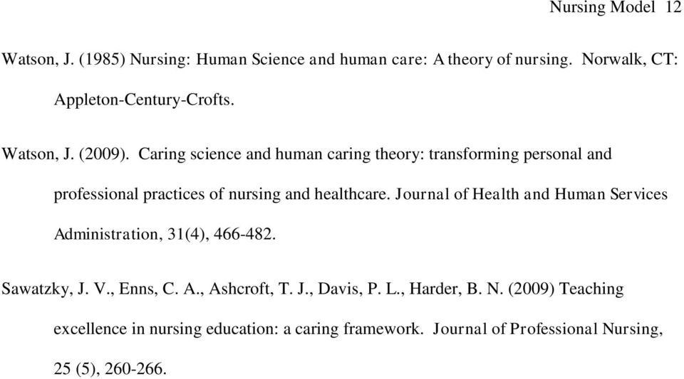 Caring science and human caring theory: transforming personal and professional practices of nursing and healthcare.
