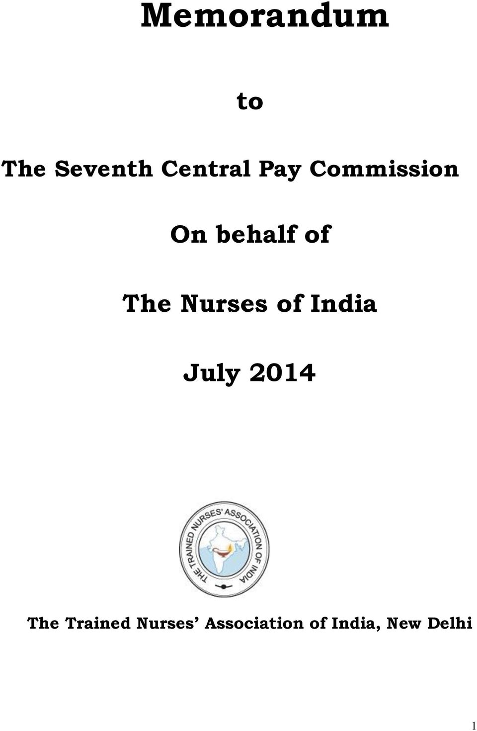 Nurses of India July 2014 The