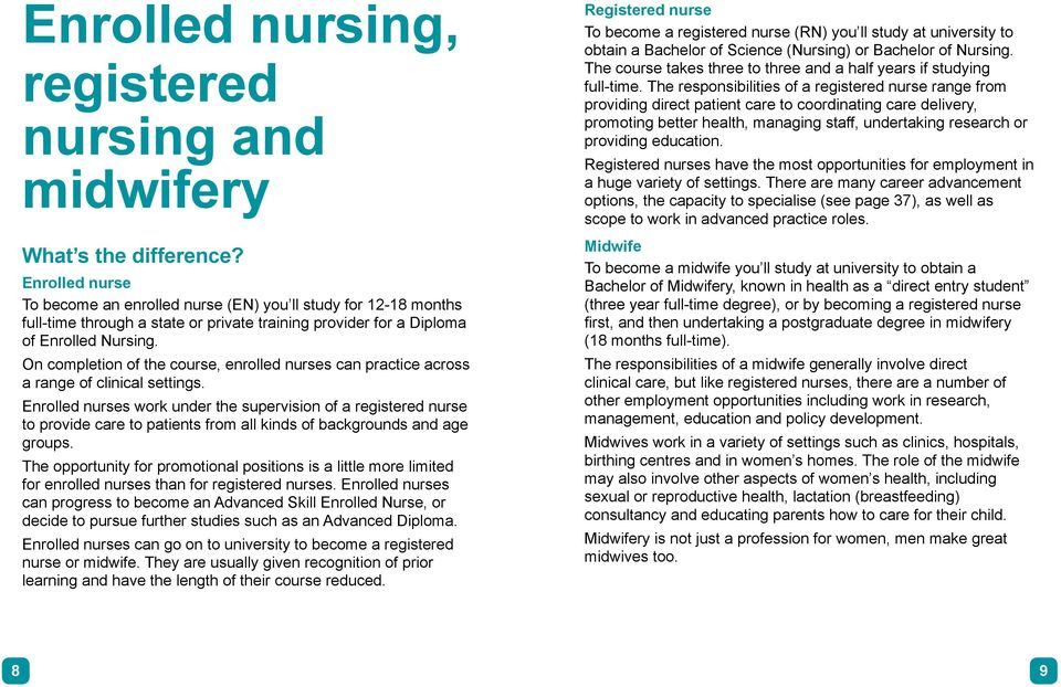 On completion of the course, enrolled nurses can practice across a range of clinical settings.