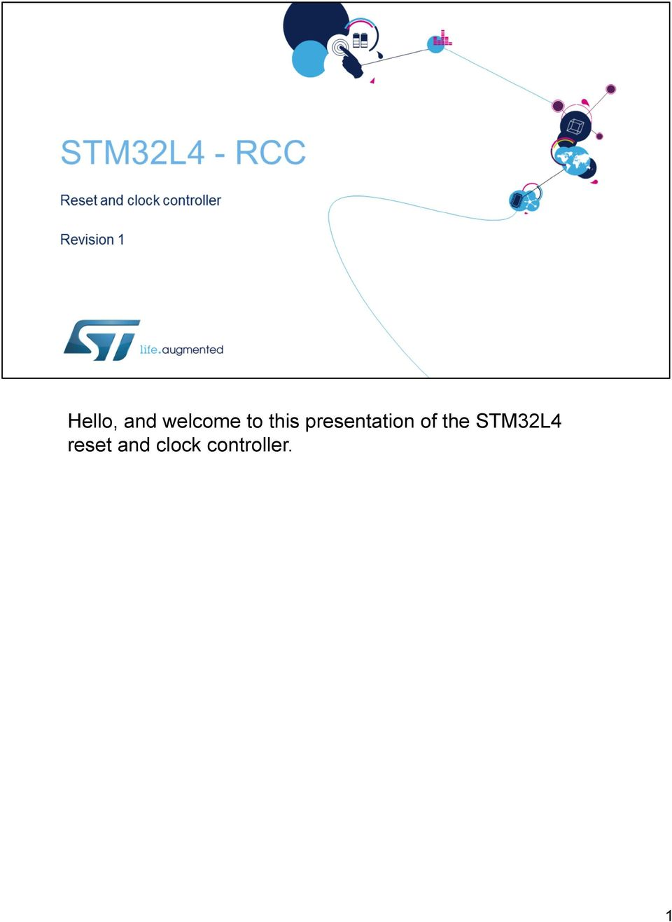 of the STM32L4 reset
