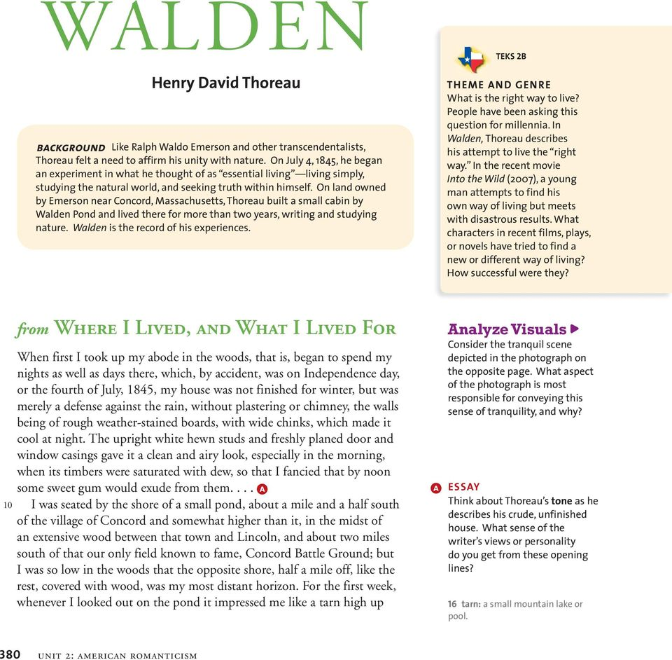analysis of walden Walden or, life in the woods lit2go edition 1854 web april 09, 2018.