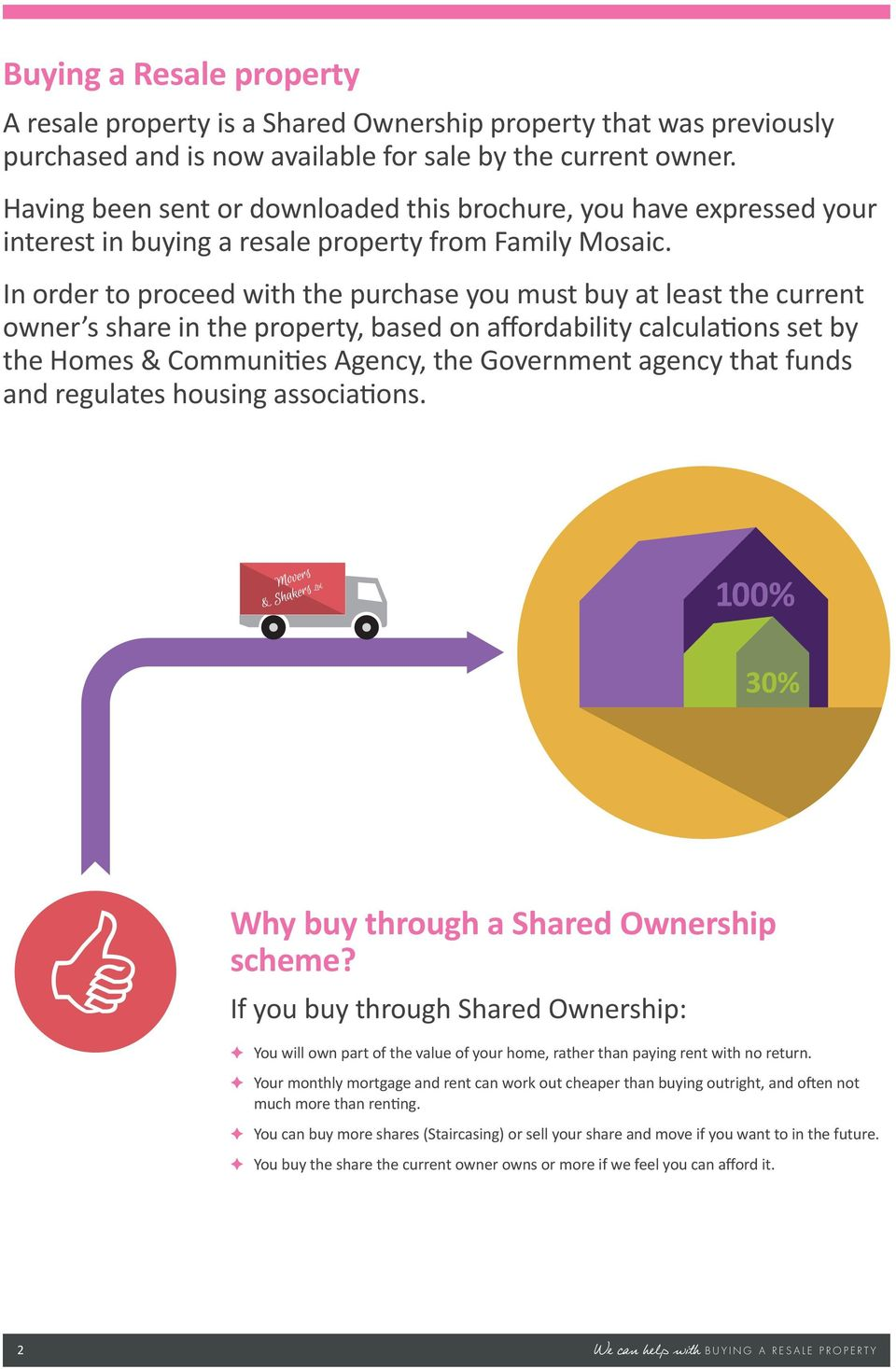 In order to proceed with the purchase you must buy at least the current owner s share in the property, based on affordability calculations set by the Homes & Communities Agency, the Government agency