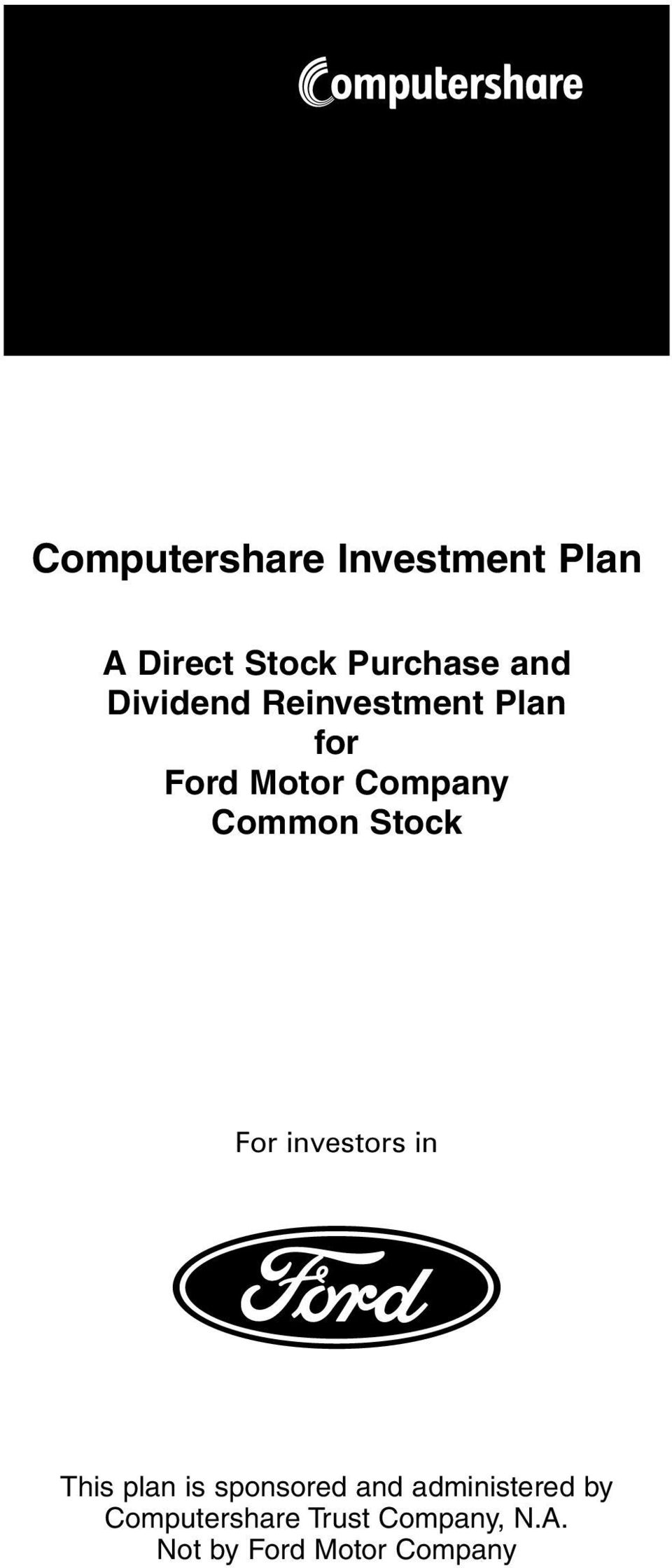 Stock For investors in This plan is sponsored and