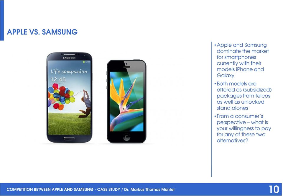 Competition between Apple and Samsung in the smartphone ...