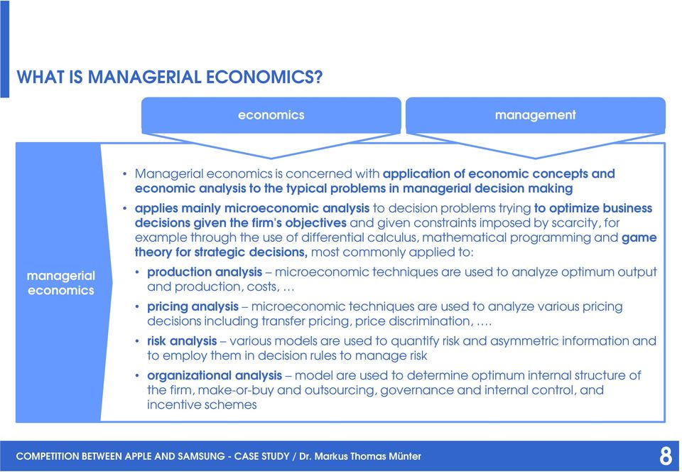 managerial economics firm vs market Or small your business, ready or not, here  of international trade and economic  theory, which is followed  that firms constantly seek market opportuni- ties and .