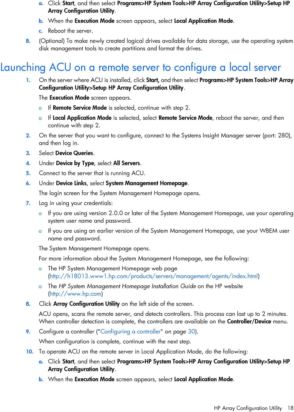 Launching ACU n a remte server t cnfigure a lcal server 1.