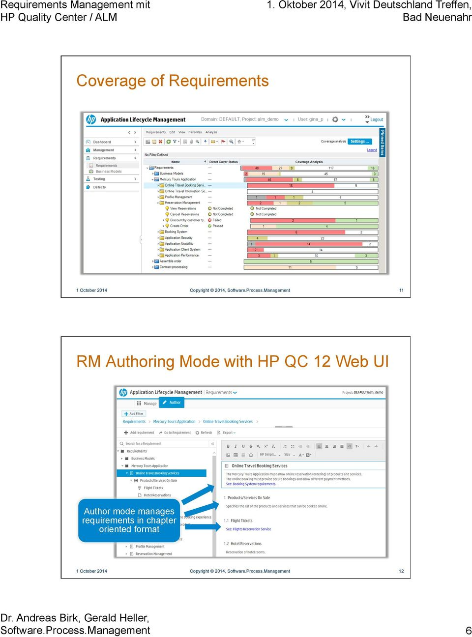 Management 11 RM Authoring Mode with HP QC 12 Web UI Author mode
