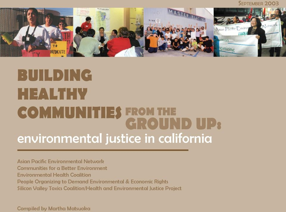 Environmental Health Coalition People Organizing to Demand Environmental & Economic Rights