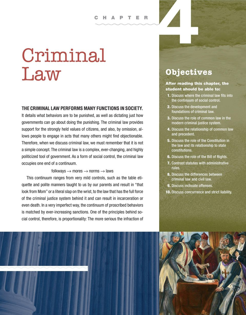 The criminal law provides support for the strongly held values of citizens, and also, by omission, allows people to engage in acts that many others might find objectionable. 2.