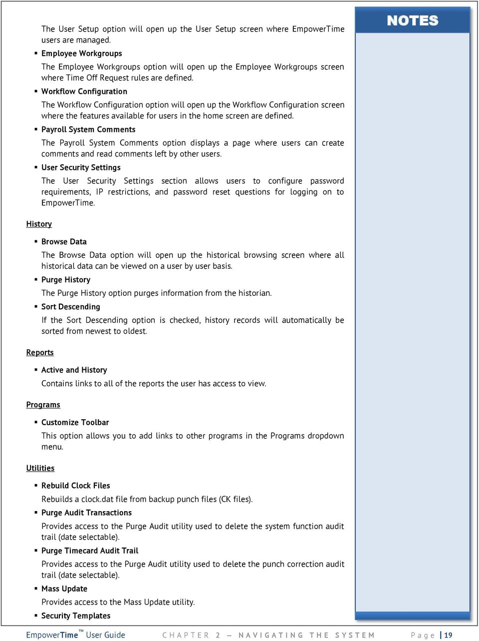 Empowertime user guide empower software solutions 315 east workflow configuration the workflow configuration option will open up the workflow configuration screen where the features nvjuhfo Gallery