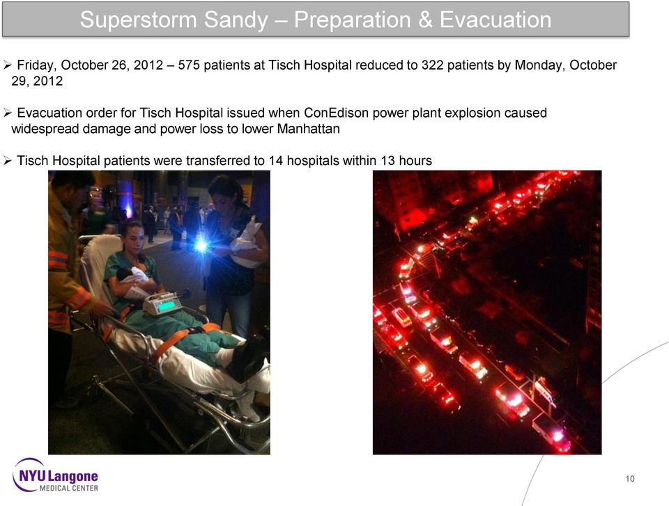 Hospital issued when ConEdison power plant explosion caused widespread damage and power