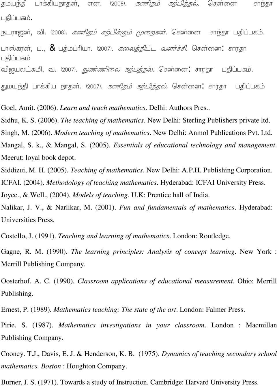 Meerut: loyal book depot. Siddizui, M. H. (2005). Teaching of mathematics. New Delhi: A.P.H. Publishing Corporation. ICFAI. (2004). Methodology of teaching mathematics.