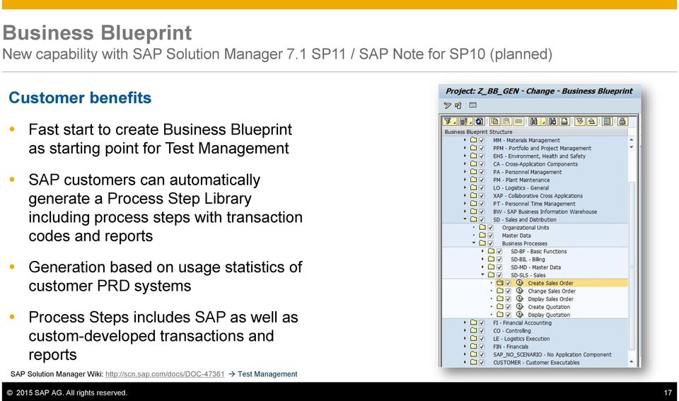 The value of sap solution manager 71 sap ag january pdf customers can automatically generate a process step library including process steps with transaction codes and reports malvernweather Gallery