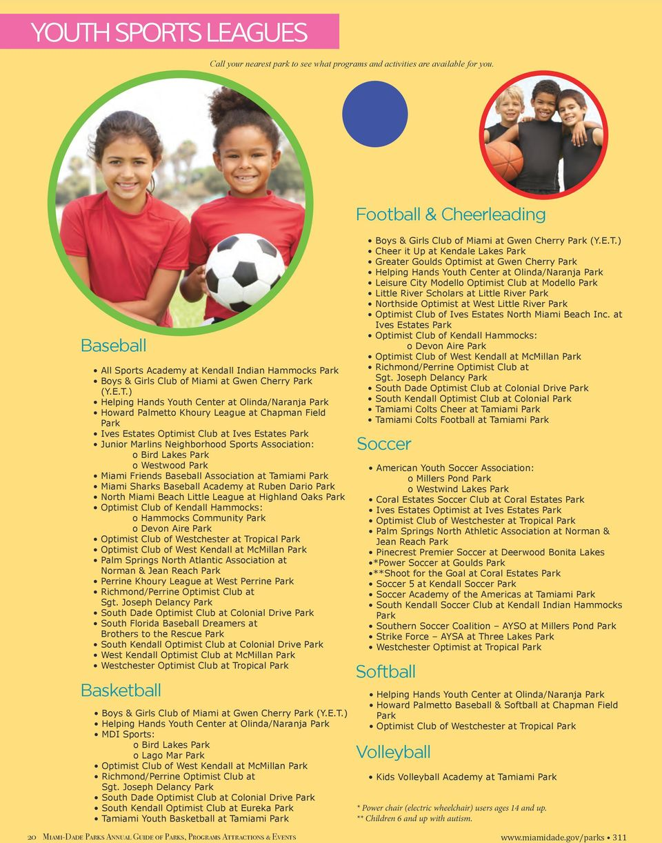 Miami-Dade Parks Annual Guide  Parks, Programs, Activities