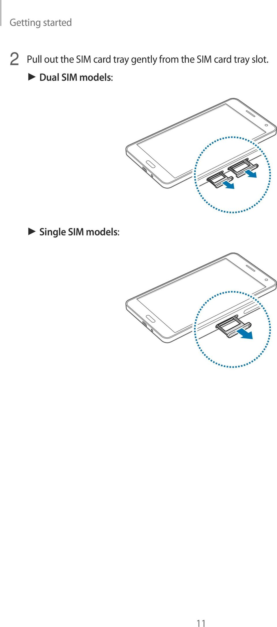 the SIM card tray slot.