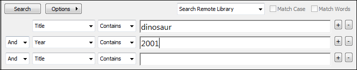 4. Search remote database When searching remote databases you can select either the Integrated Library & Online Search Mode or the Online Search Mode.