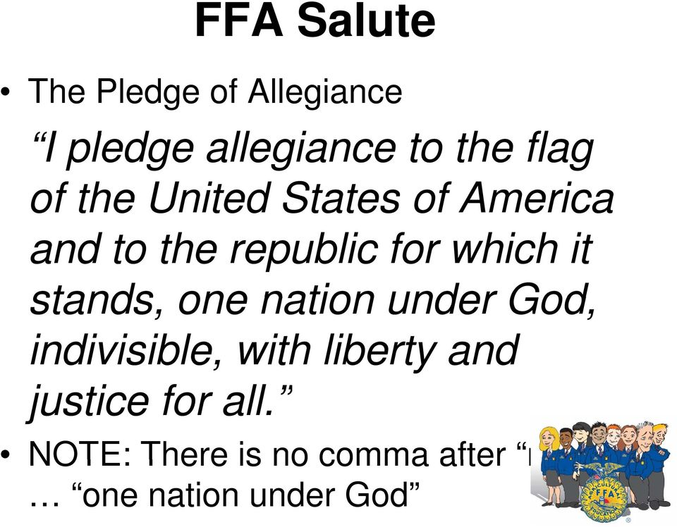 nation under God, indivisible, with liberty and justice for all.