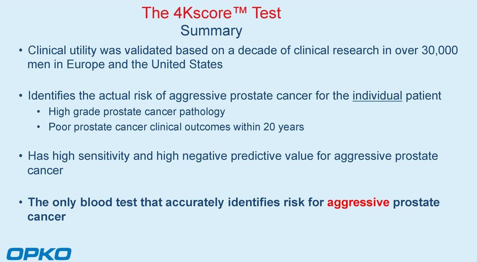 grade prostate cancer pathology Poor prostate cancer clinical outcomes within 20 years Has high sensitivity and high