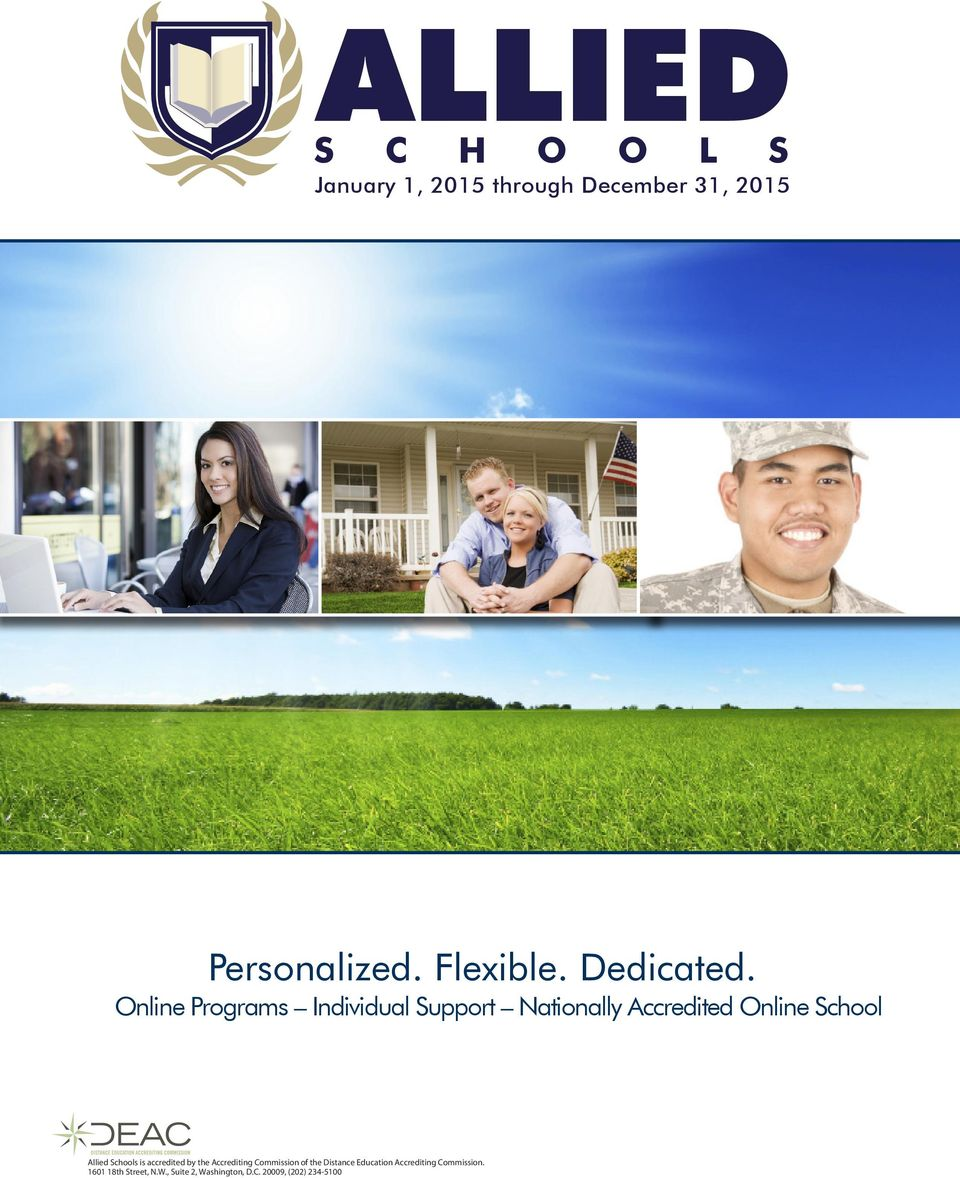 Online Programs Individual Support Nationally Accredited Online School Allied Schools