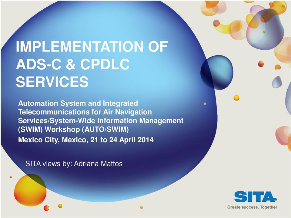 Services/System-Wide Information Management (SWIM) Workshop