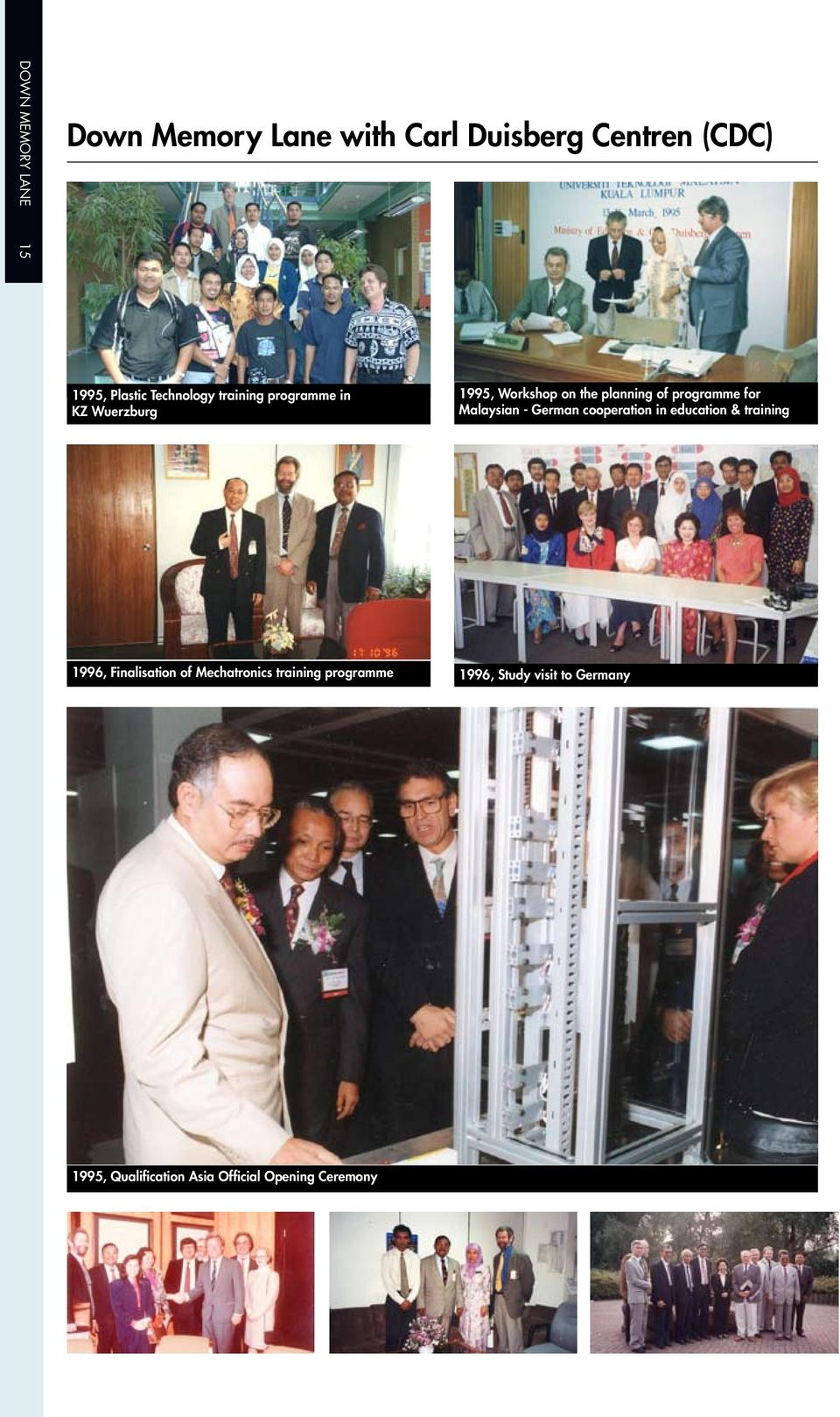 for Malaysian - German cooperation in education & training 1996, Finalisation of