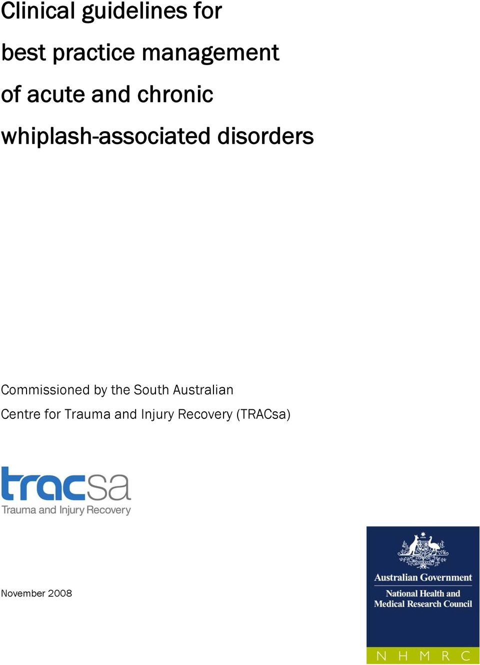 disorders Commissioned by the South Australian