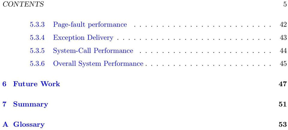 ....................... 44 5.3.6 Overall System Performance.