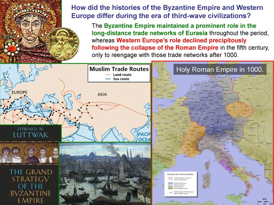 The Byzantine Empire maintained a prominent role in the long-distance trade networks of Eurasia throughout