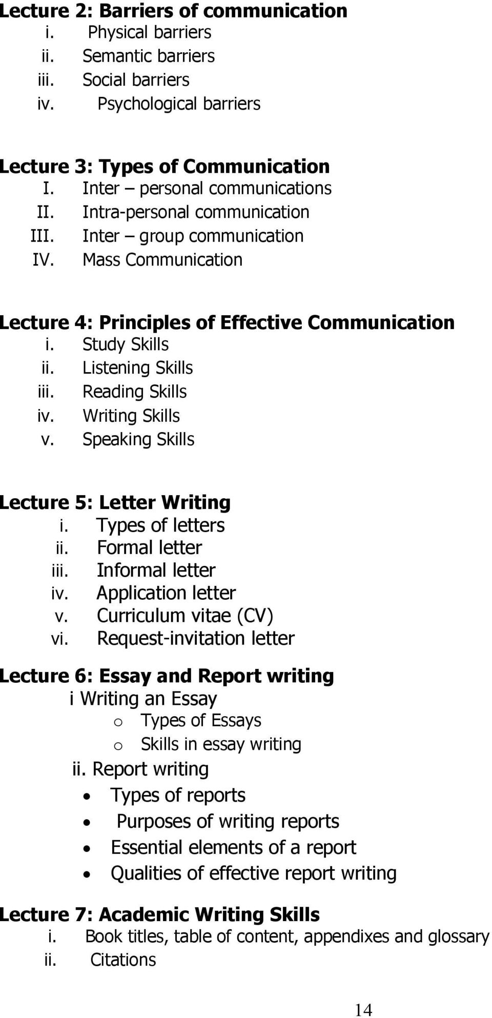 effective communication 14 essay Effective communication essay - government research papers, you will have to work hard for your articles to be circulated.