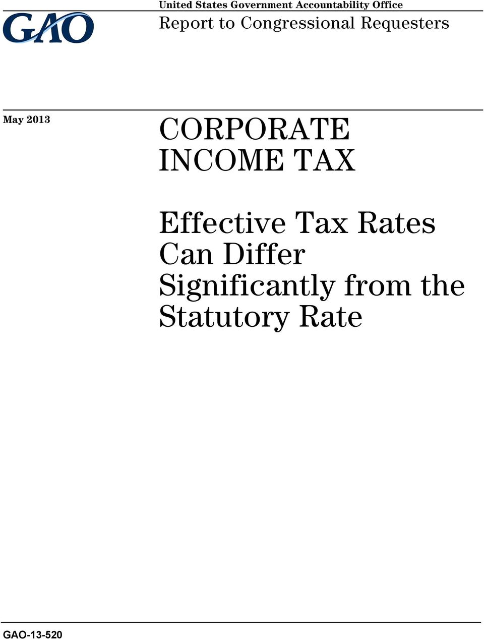 CORPORATE INCOME TAX Effective Tax Rates Can