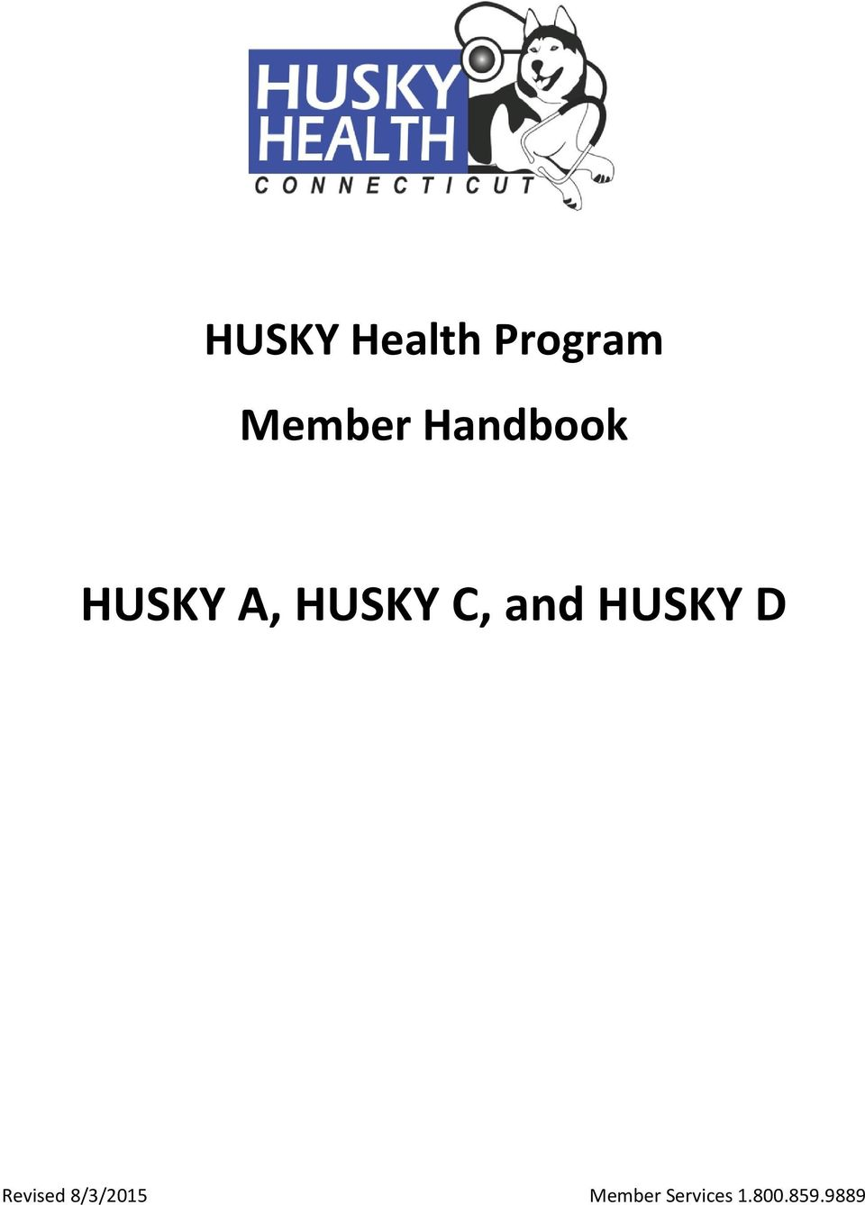 and HUSKY D Revised 8/3/2015