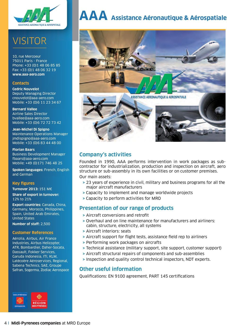 Key figures visitor i assistance a ronautique - Aaa business supplies and interiors ...