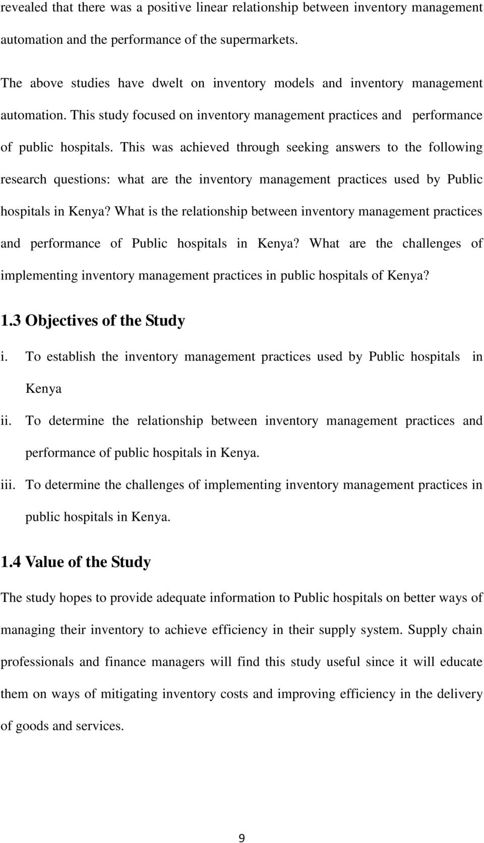 Phd thesis on inventory management