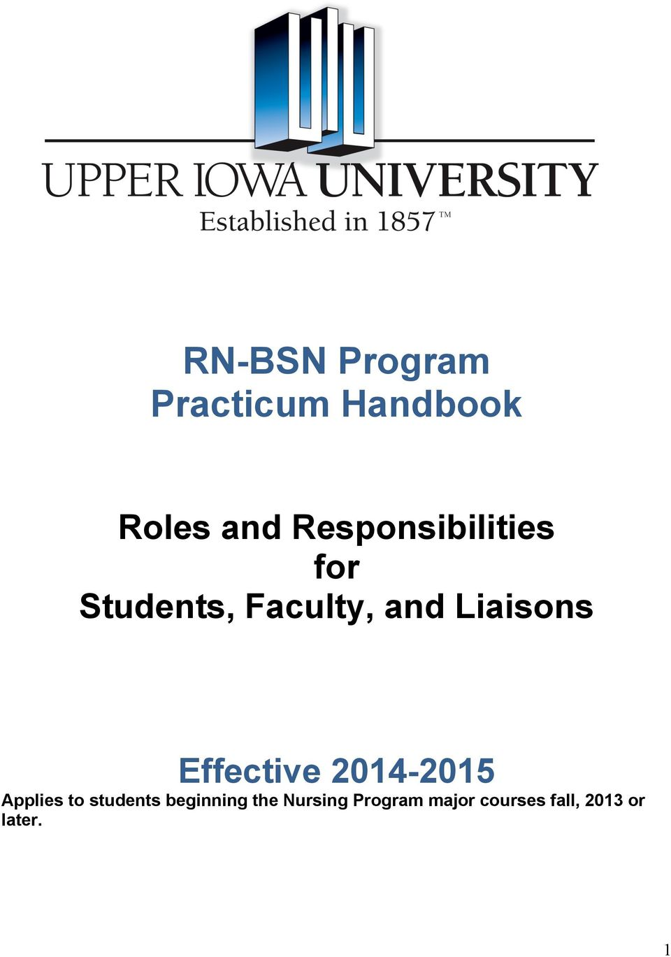 Liaisons Effective 014-015 Applies to students