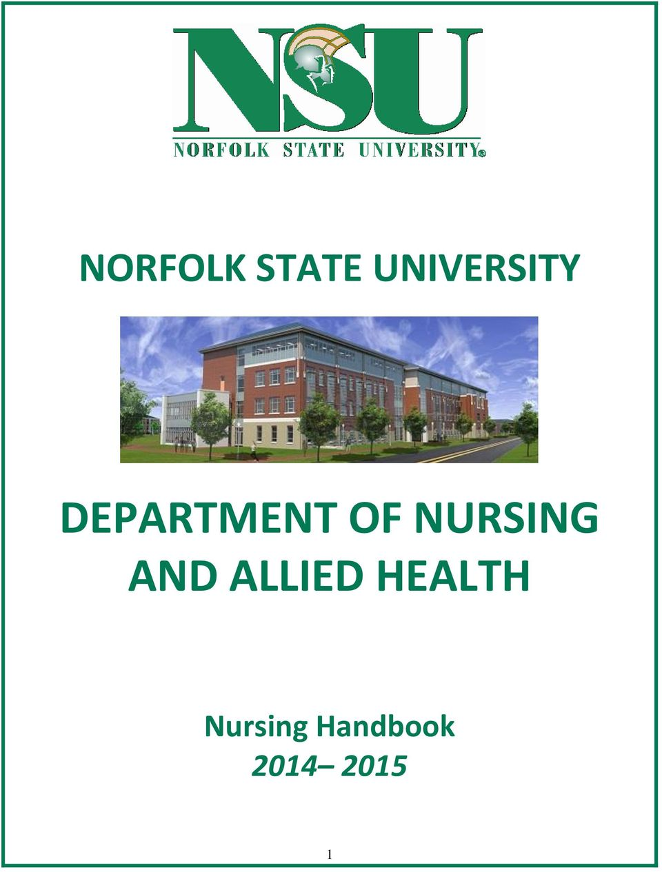 OF NURSING AND ALLIED