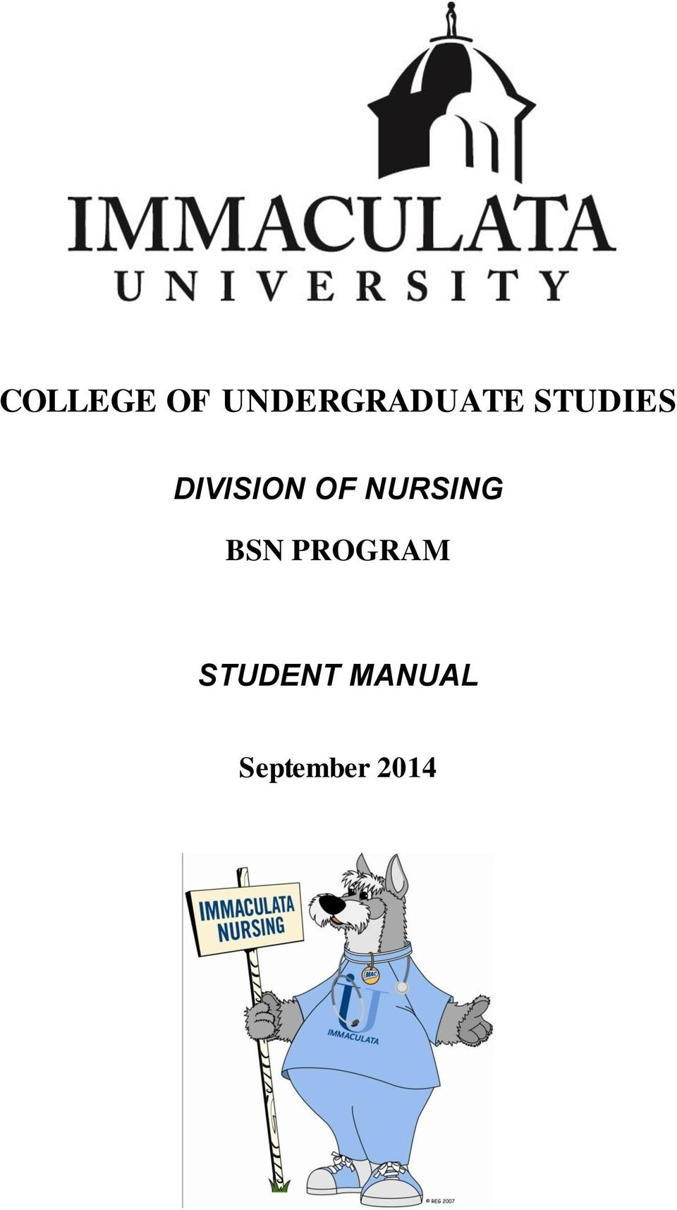 DIVISION OF NURSING BSN