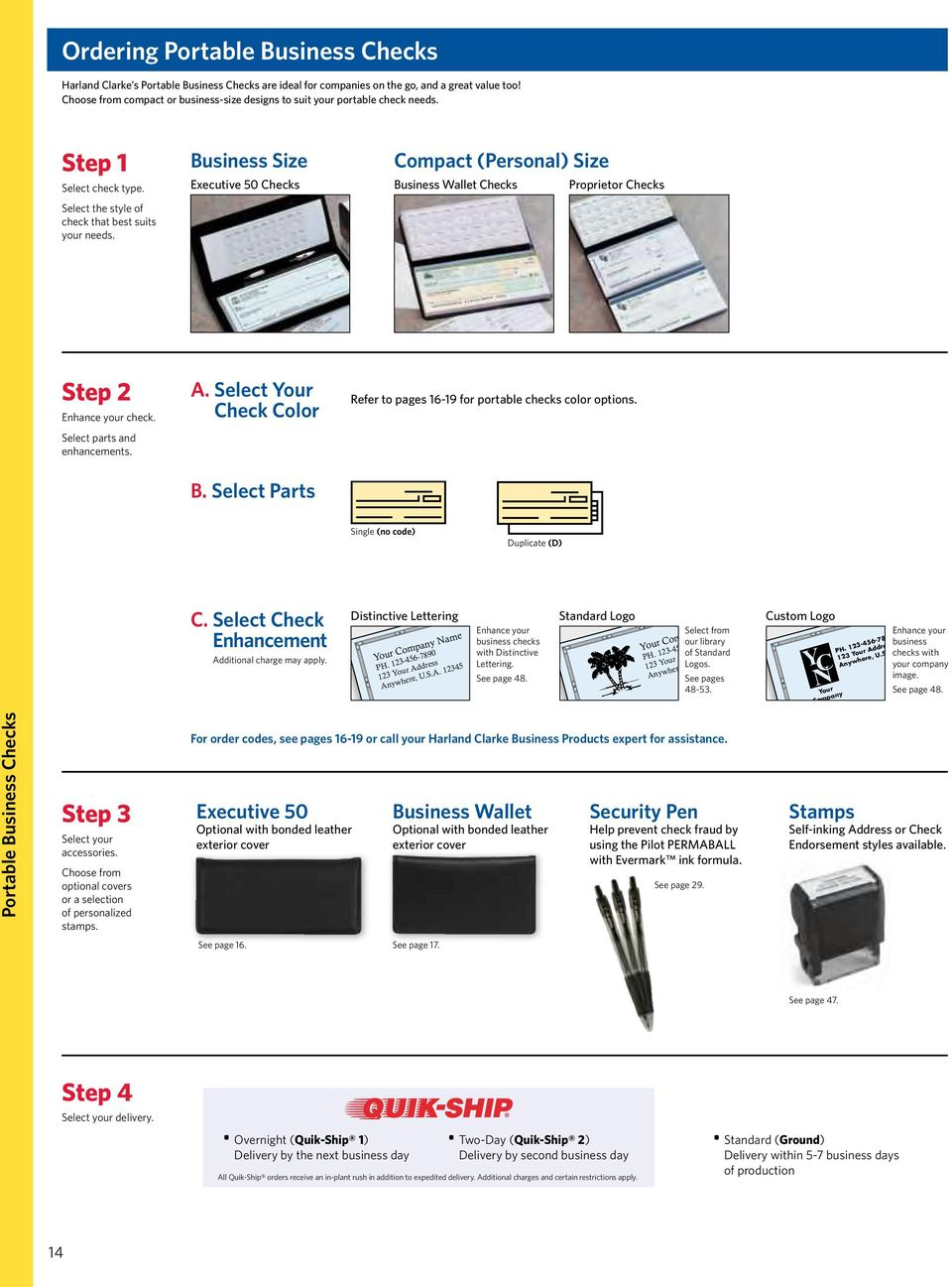 Business Size Checkbook Covers : Business checks accessories a variety of