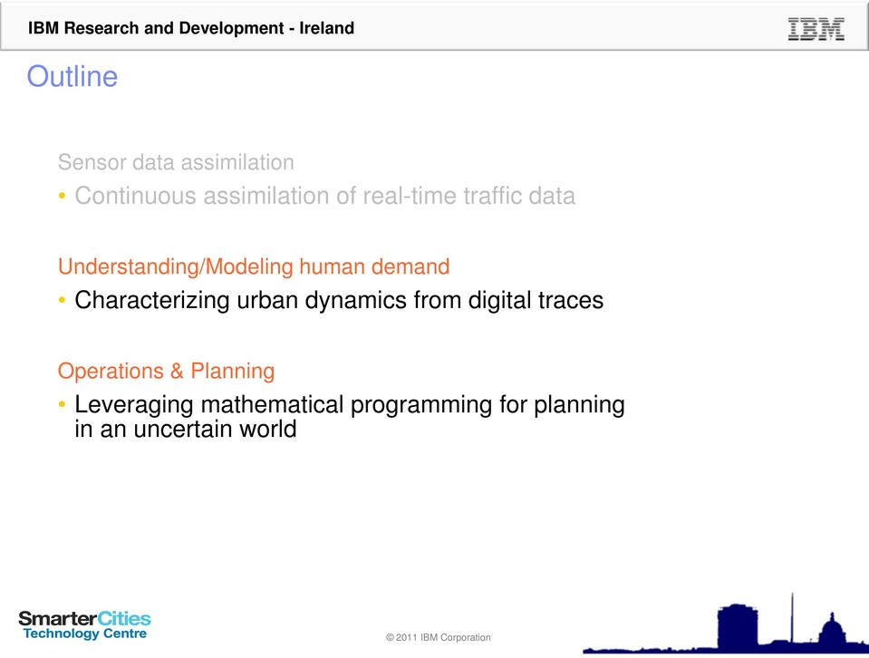 Characterizing urban dynamics from digital traces Operations &