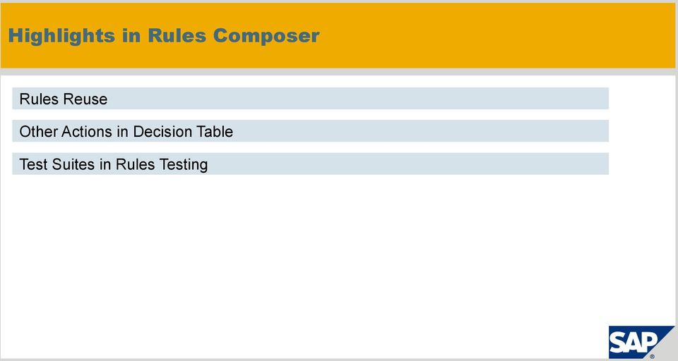Decision Table Test Suites in