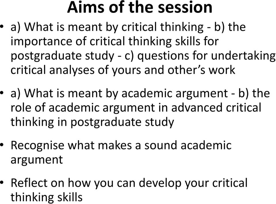 aqa a level critical thinking The ocr exam board's a-level in the subject instructs teachers to take pupils through how they can consider arguments from a variety of moral and ethical standpoints the aqa exam board's a-level in the subject includes a unit on reasoning and decision-making and another on information, influence.