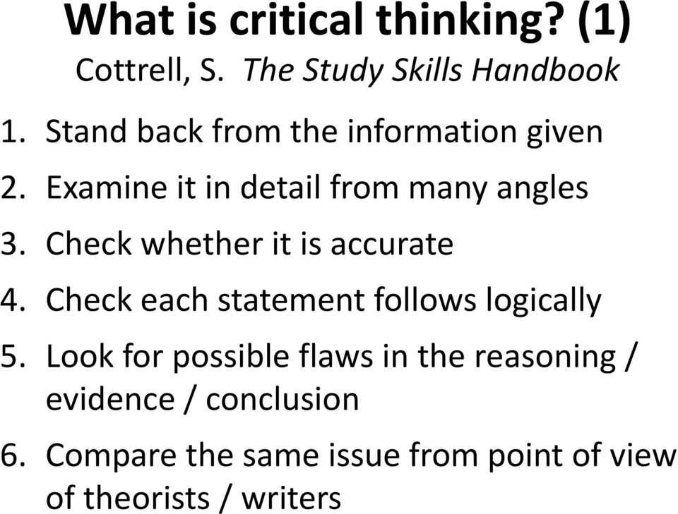 critical thinking a level past papers