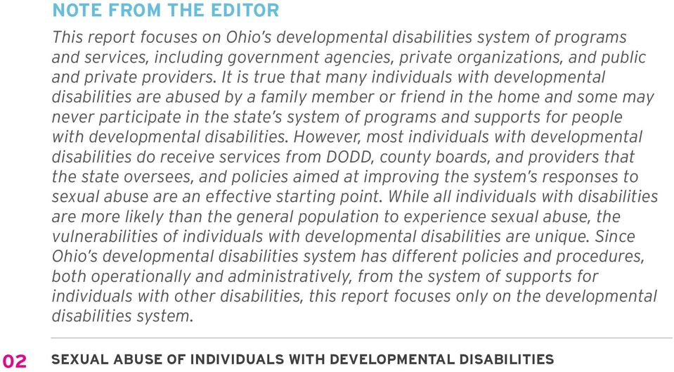 people with developmental disabilities.