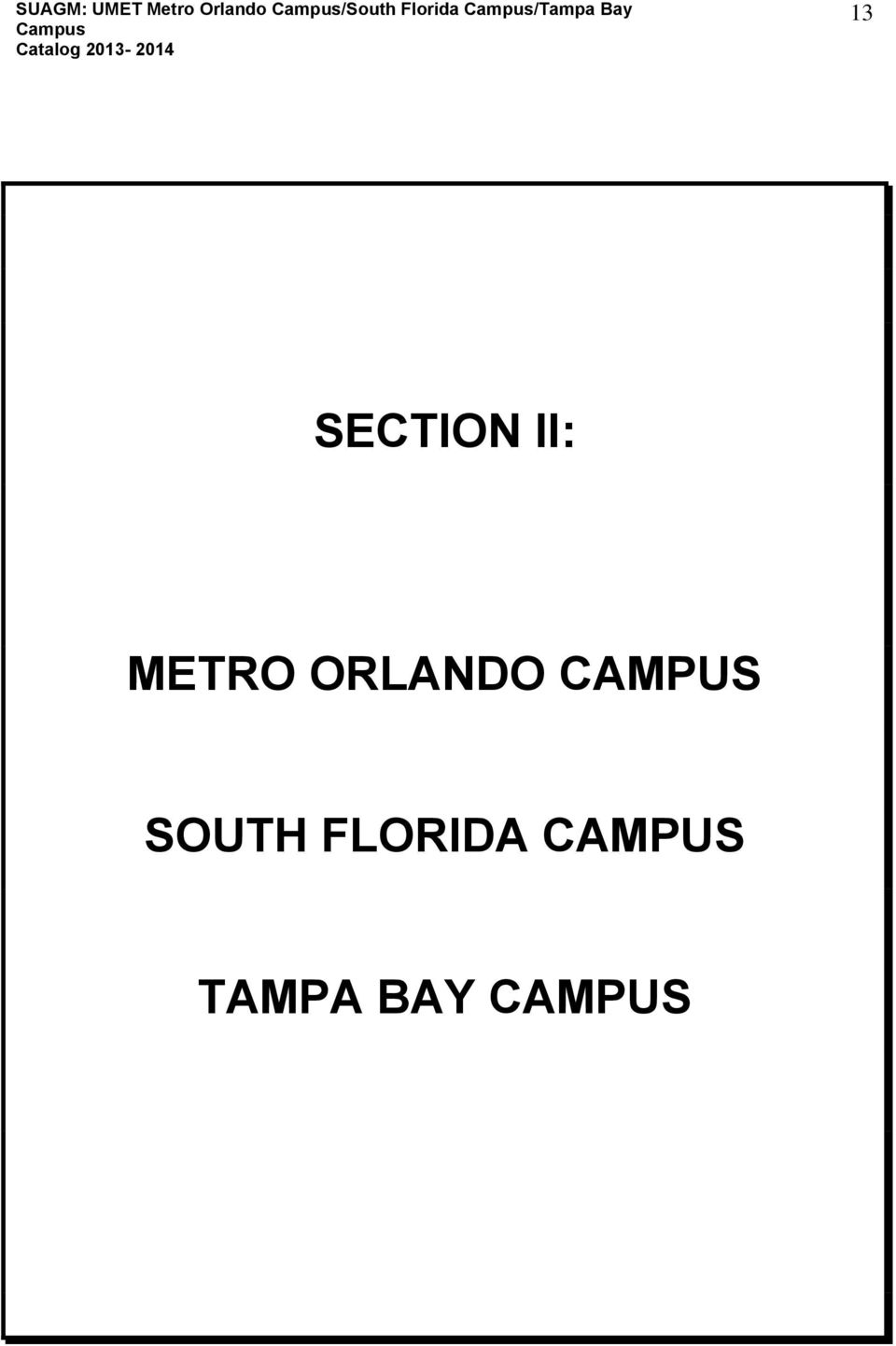 SECTION II: METRO ORLANDO