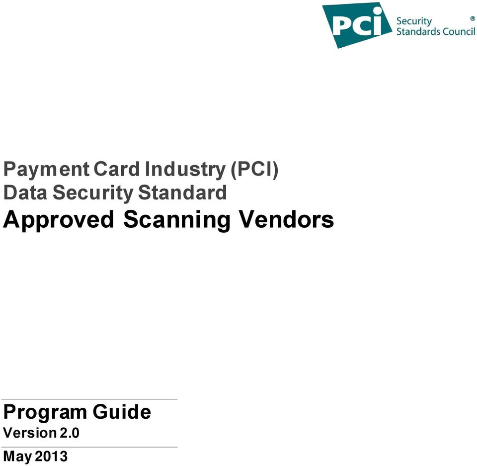 Approved Scanning Vendors