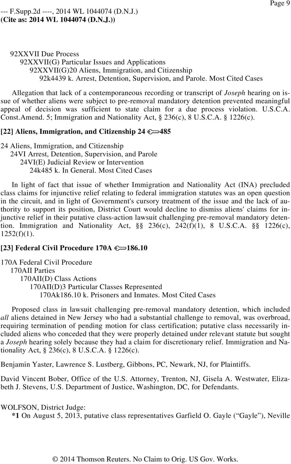 appeal of decision was sufficient to state claim for a due process violation. U.S.C.A. Const.Amend. 5; Immigration and Nationality Act, 236(c), 8 U.S.C.A. 1226(c).