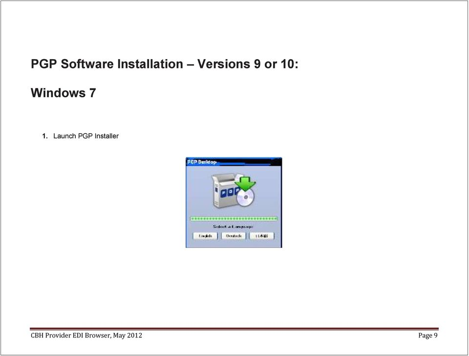 Launch PGP Installer CBH