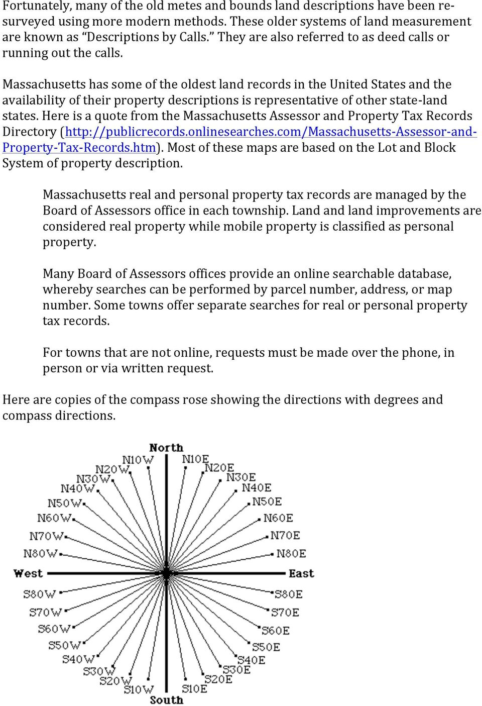 Visualizing metes and bounds property descriptions on for Metes and bounds