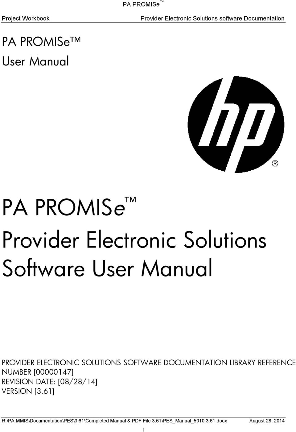 Software User Manual PROVIDER ELECTRONIC SOLUTIONS SOFTWARE